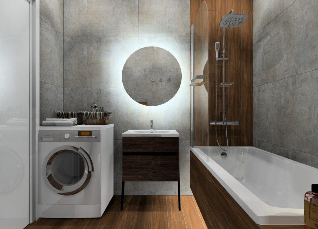Maksymalnie wykorzystane miejsce w przytulnej łazience